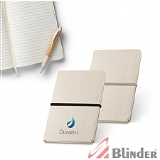 Caderno capa dura contendo 96 folhas pautadas.
