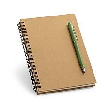 Caderno B6 capa dura Papel kraft contendo 70 fls.