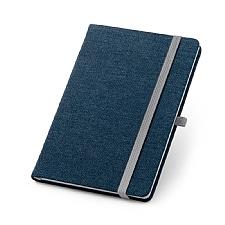 Caderno capa dura Jeans contendo 96 folhas.