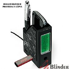 Porta caneta, cartão e celular c/ 04 extensões USB
