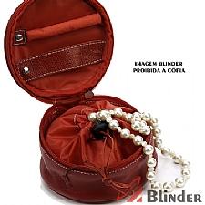 Porta jóias em couro legítimo.
