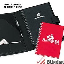 Kit c/ pasta em couro legítimo e caderno executivo