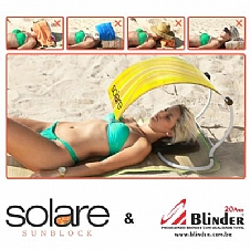 Protetor solar dobrável.