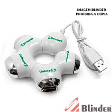 HUB USB - BRANCO