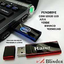 PEN DRIVE COM LOGO LED DE 4GB